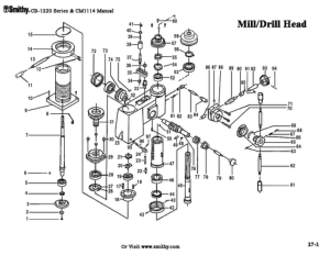 Smithy Mill Drill Head CB-1220 Series Parts Diagrams pdf