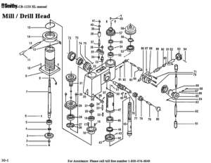 Smithy MI1220 XL Parts Diagrams List Mill Drill Head pdf