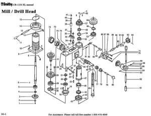 Smithy MI1220 XL Parts Diagrams List Mill Drill Head pdf