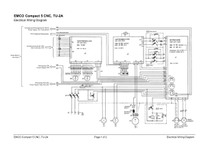 EMCO Compact 5 CNC Electrical Wiring Diagram pdf  CNC Manual