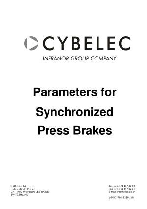 Cybelec Parameters for Synchronized Press Brakes V5.2 pdf