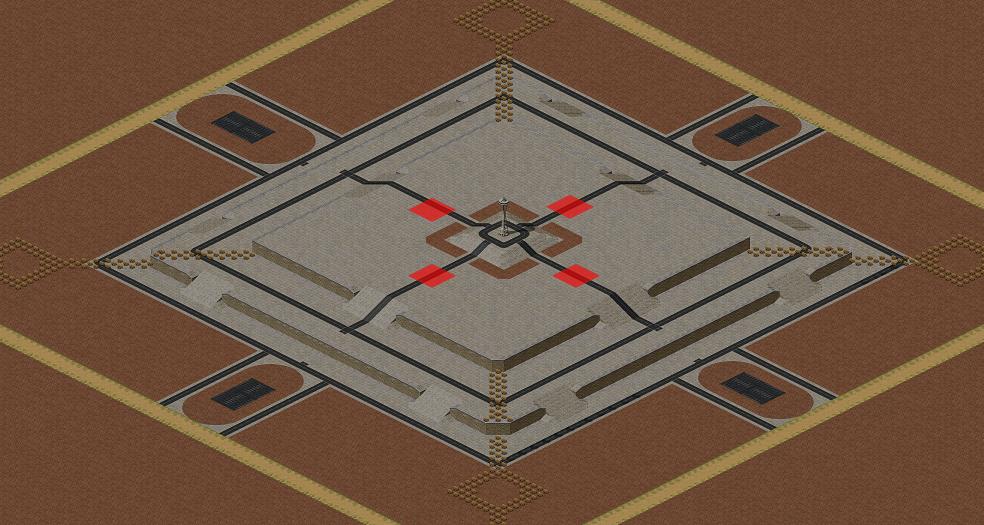 Red Alert 2 map 4Kingdom Fortress