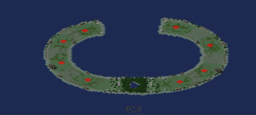 Red Alert 2 map Wake Island QX