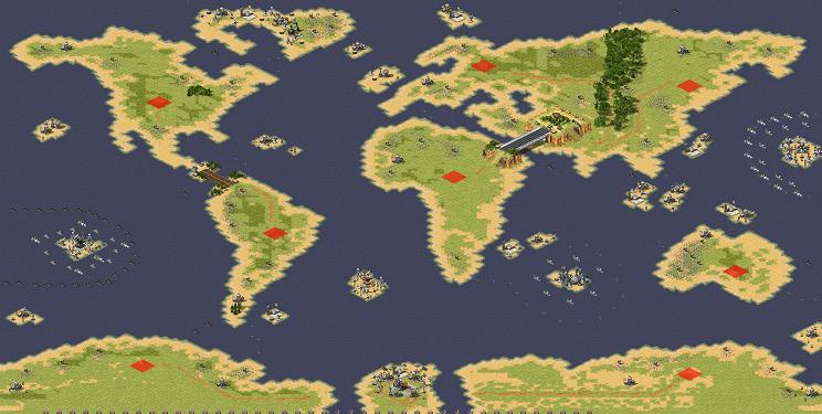 Red Alert 2 map Global Domination - Cold War V4