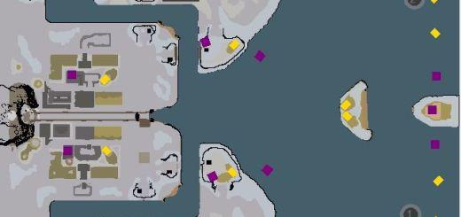 Red Alert 3 map Glacier Bay