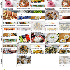 Balanced Vegetarian Meal Plan 3