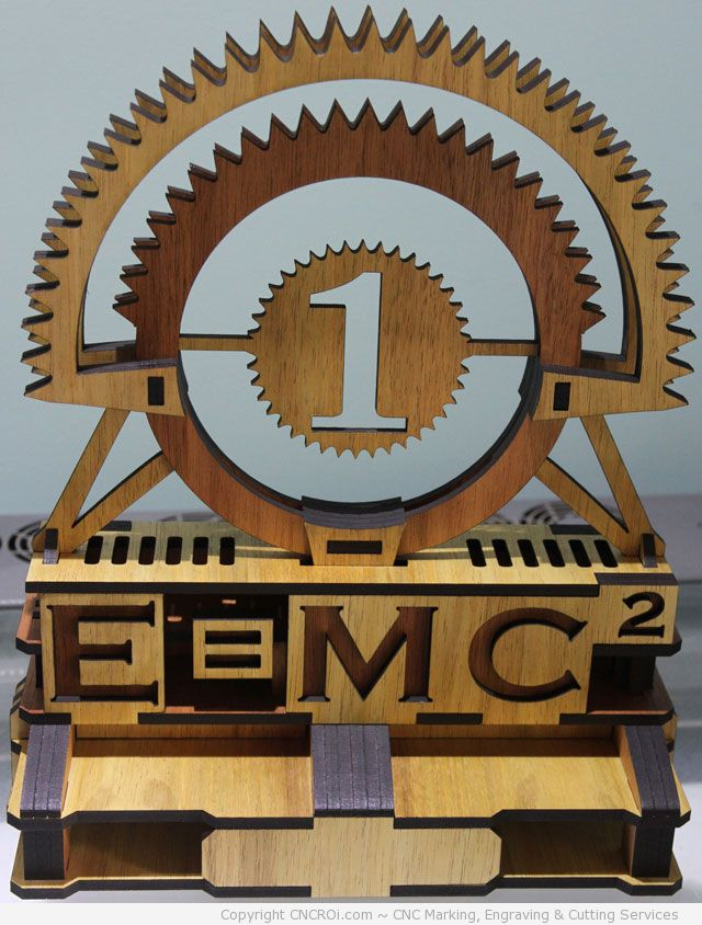 trophy2 CNC Laser Engraving & Cutting 6 mm Custom Acrylic Award