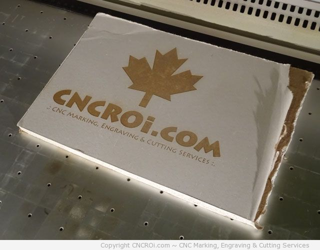 drywall-engraving-2 CNC Laser Engraving Drywall (Sheetrock Gyproc and Gyprock)