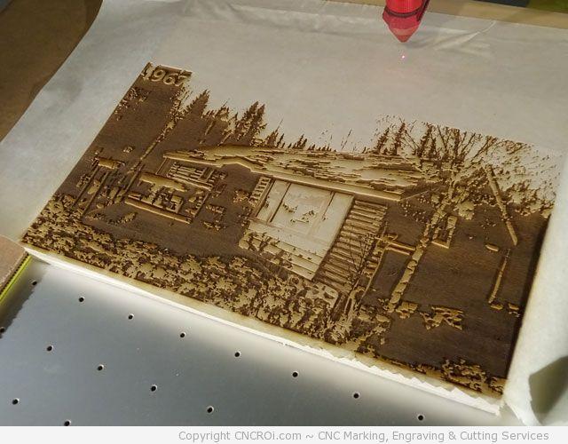 wood-cottage-2 CNC Laser Engraving a Wooden Cottage on Wood