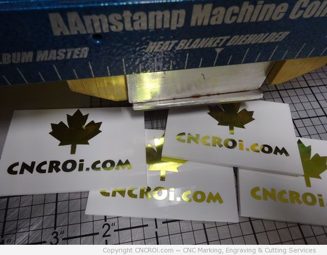 CNC Laser Engraving A Custom Hot Press Mold for Foil Stamping