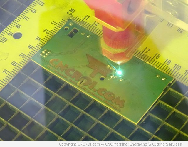 CNC Fiber Marking & Engraving a PCB Board -