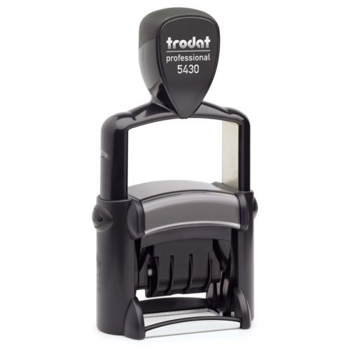 "trodat-5430Lb Trodat Professional 5430/L Custom Self-Inking Stamp (24 x 41 mm or 1 x 1-5/8"" with stock text)"