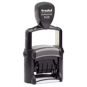 "trodat-5430Lb Trodat Professional 5430/L Custom Self-Inking Stamp (24 x 41 mm or 1 x 1-5/8"" with stock text)"
