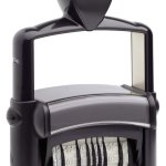 "trodat-5466PLb Trodat Professional 5466/PL Custom Self-Inking Stamp (33 x 56 mm or 1.3 x 2.6"" with double dater)"
