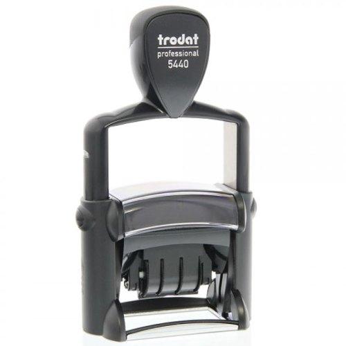 "trodat_5440L Trodat Professional 5440/L Custom Self-Inking Stamp (28 x 49 mm or 1-1/8 x 2"" with stock text)"