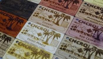 Custom veneer business cards custom wood veneer cards poplar wenge ash zebrawood padauk reheart Gallery