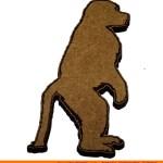 0019-baboon-standing Baboon Standing Shape (0019)