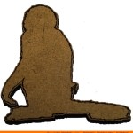 0020-baboon-sitting Baboon Sitting Shape (0020)