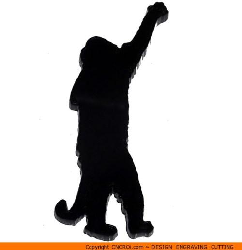 0023-monkey-standing Monkey Standing Shape (0023)