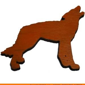 0095-wolf-howlingb Wolf Howling Shape (0095)
