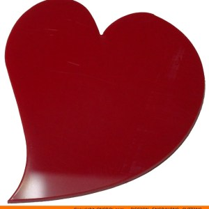 0140-heart-angled Callout Heart Shape (0140)