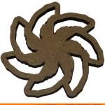 0141-snowflake-circularb Circular Snowflake Shape (0141)