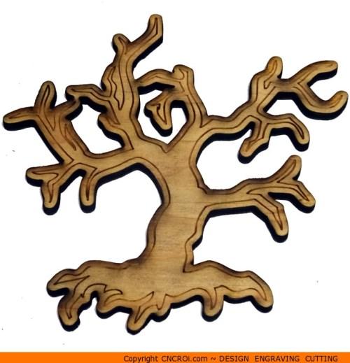 0157-tree-scary-small Scary Small Tree Shape (0157)