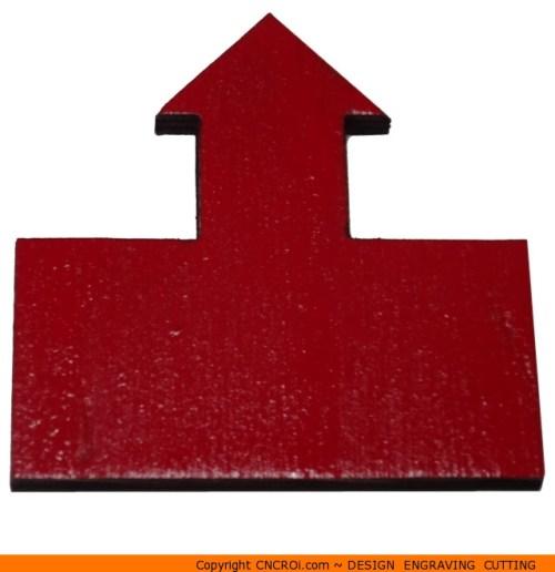 109-arrow-box-onec Box One Arrow Shape (0109)