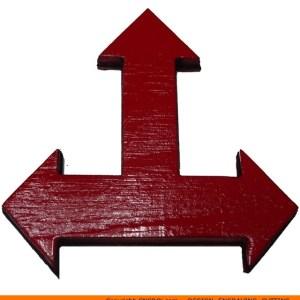 113-arrow-three-arrowc Triple Straight Arrow Shape (0113)