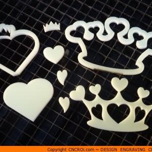 custom-hearts-x4 Heart Crown Shape (0133)