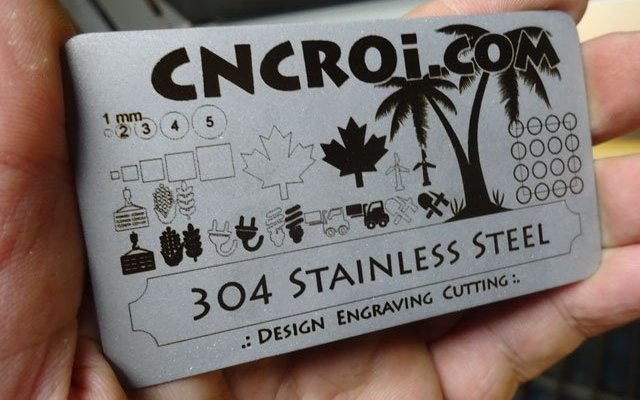 metal-business-card-x2 Matte Finished Stainless Steel Business Card