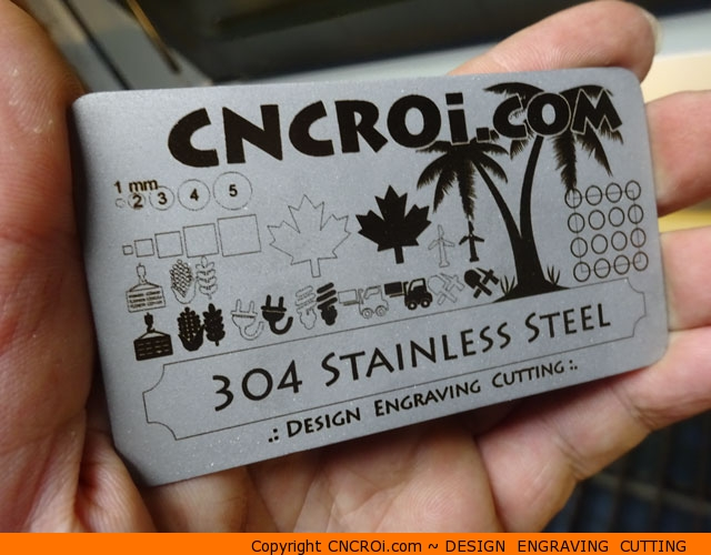 metal-business-card-1 Matte Finished Stainless Steel Business Card
