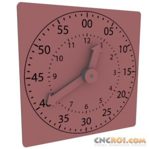 clock-teaching-cnc-laser Time Teaching Clock