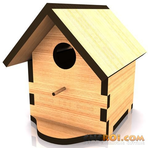 cnc-laser-birdhouse-b Bird House B