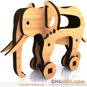 cnc-laser-elephant Elephant