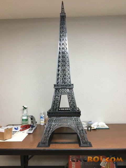 Custom Metal Eiffel Tower: CNC Laser Cut