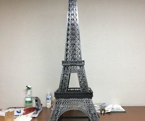 x3 Custom Metal Eiffel Tower: CNC Laser Cut
