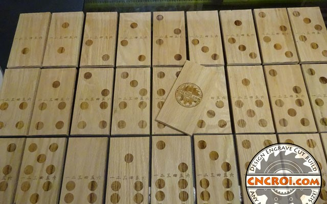custom-oak-domino-xxx6 Solid Oak Domino Set: Reclaimed Wood to High End Game