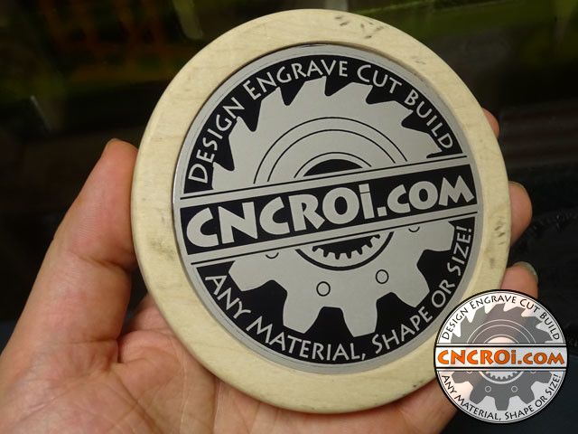 engraving-coaster-aa-1 Black Anodized AL Branding: CNC Laser Engraving Aluminium