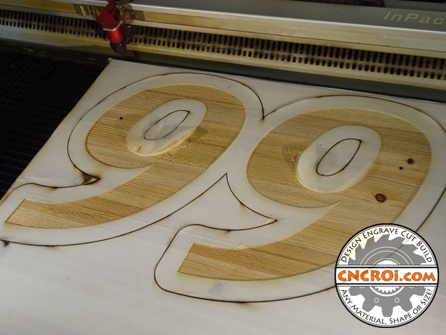 house-number-pine-1 Country House Number Sign: Paint Filled CNC Laser Engraving & Cutting Pine