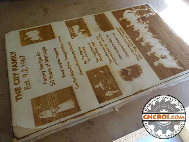 wedding-anniversary-1 50th Wedding Anniversary: CNC Laser Engraving & Cutting Pine