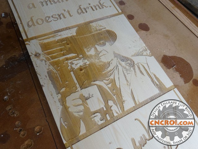 john-wayne-pine-x2 John Wayne Bottle: Custom Laser Engraved & Cut Pine