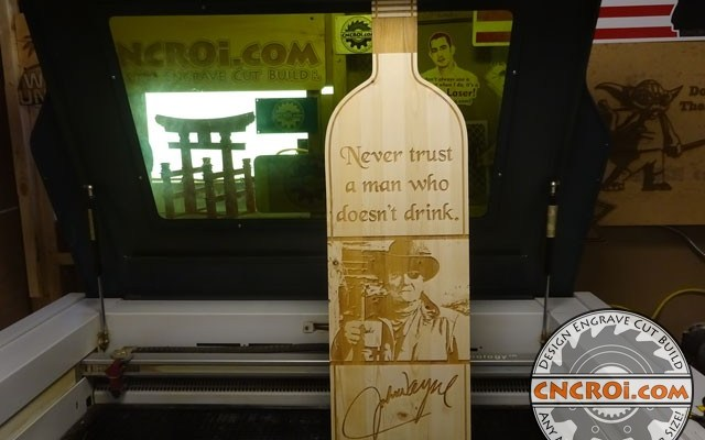 john-wayne-pine-xx2 John Wayne Bottle: Custom Laser Engraved & Cut Pine