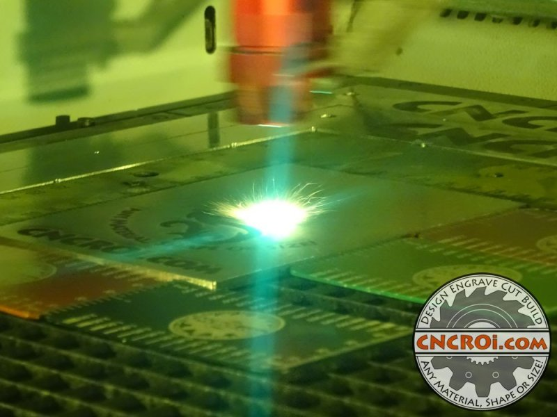 Paint Filled Metal 316 Stainless Steel Fiber Laser Etched