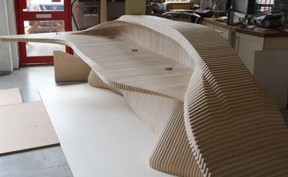 CNC Routing  Reception Desk