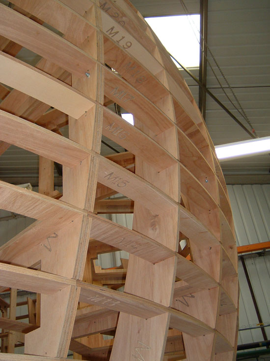 CNC Routing  Plywood Frames for GRP Mould
