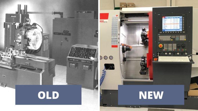 history of cnc old vs new machine