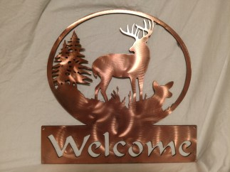 Buck family steel with copper finish