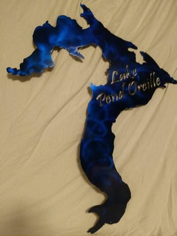 lake pen oreille in blue