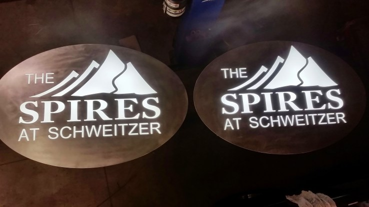 large oval backlight signs
